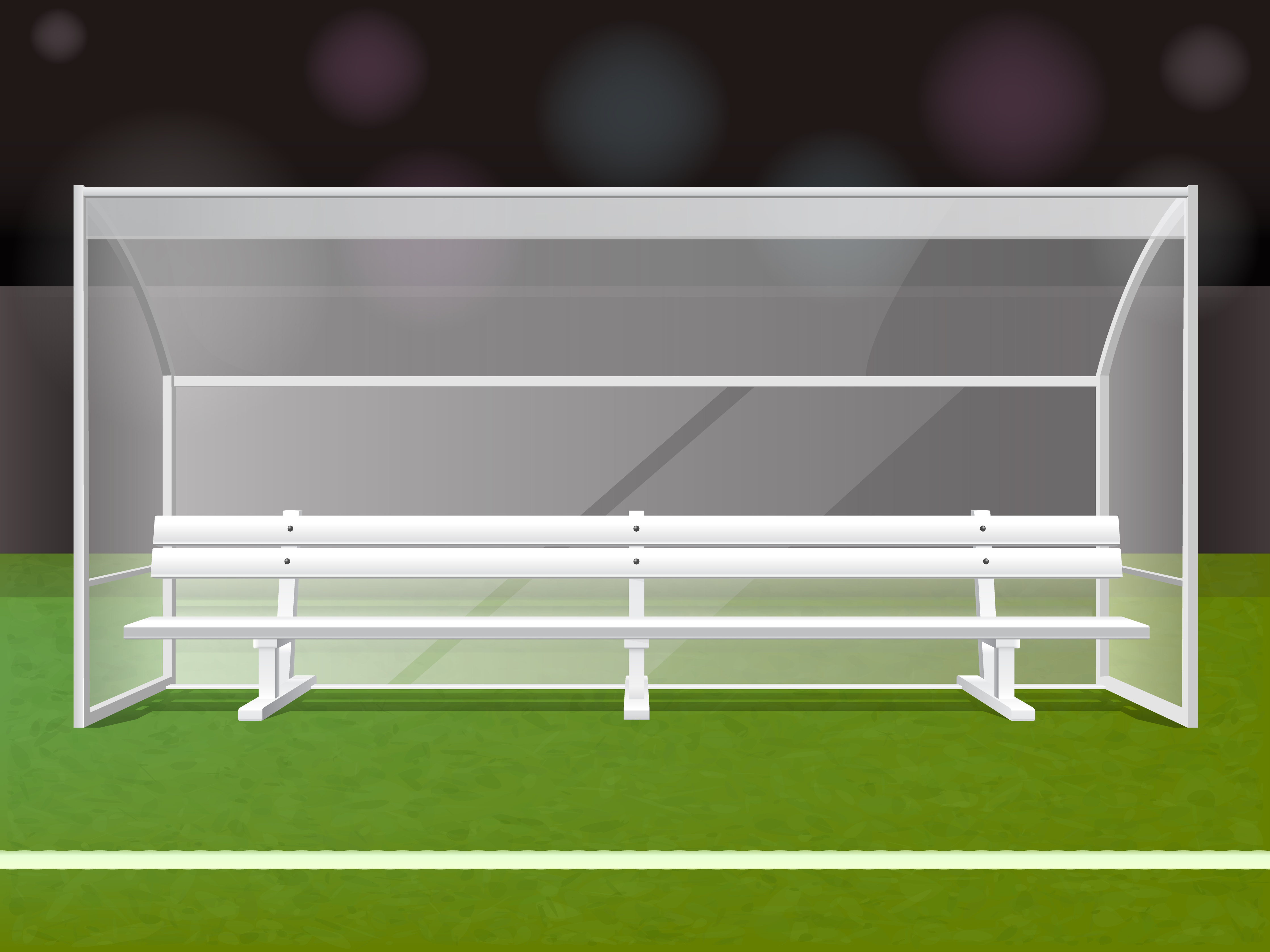 White Soccer Bench