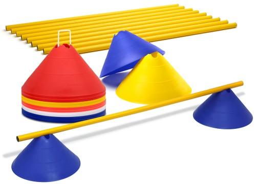 Trainingshilfen - Hürdenset (Jumbo Hütchen)