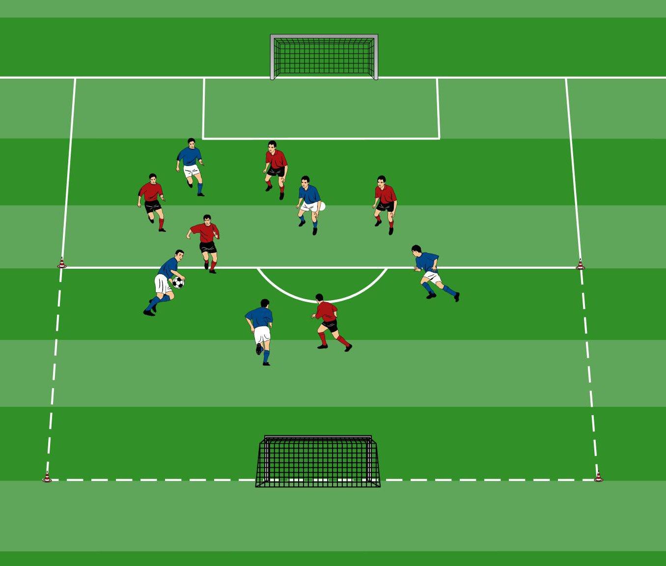 Handballspiel im Fußballtraining