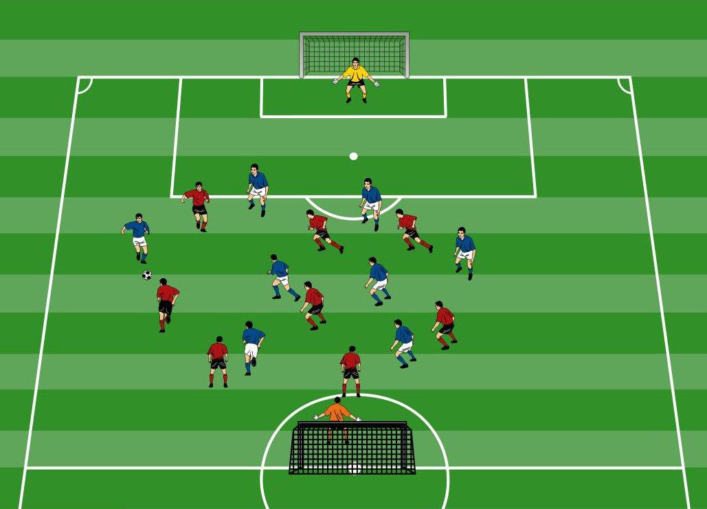 Doppelpass-Schulung in Spielform