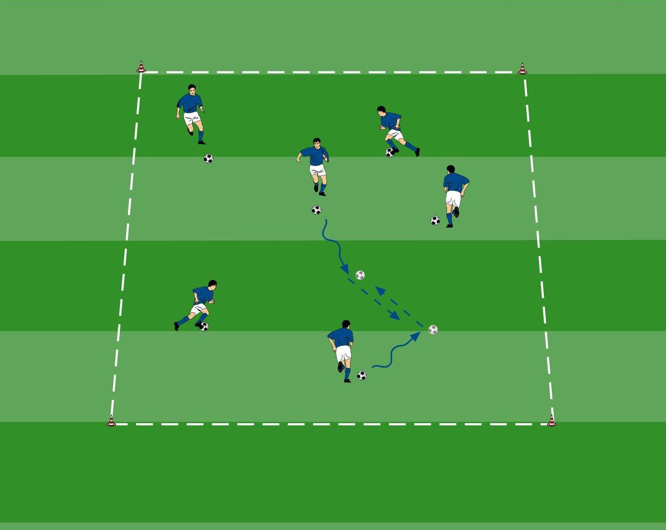 Balldribbling beim Fußballtraining