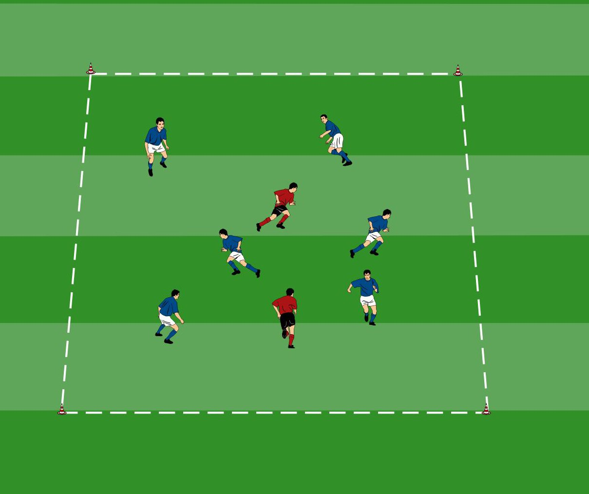 Fangspiele beim Fußball