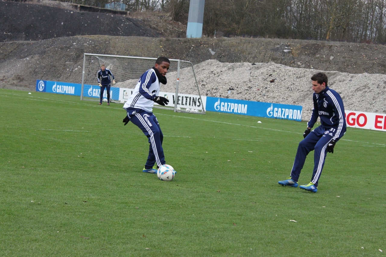 Schalke-Trainingsspiel vor dem Koeln-Spiel