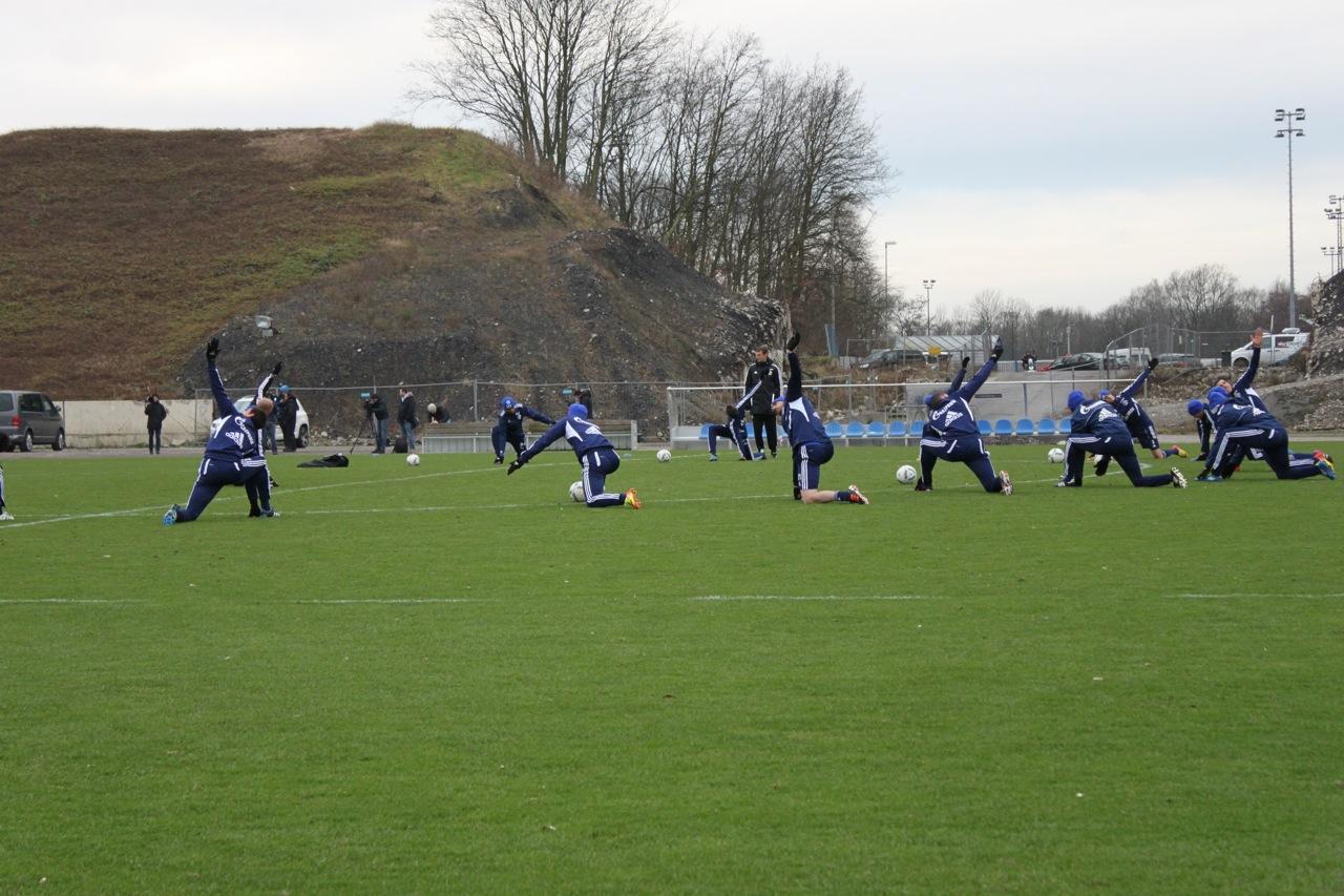 Schalke-Training gegen Koeln