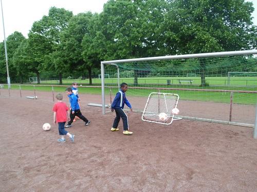 Tolles Training geht auch mit wenigen Kindern! (Foto: Uwe Jansen)