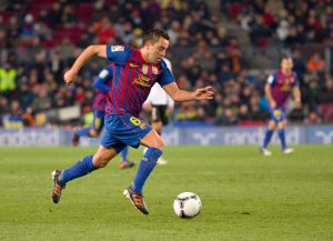 Sprint mit Ball Xavi