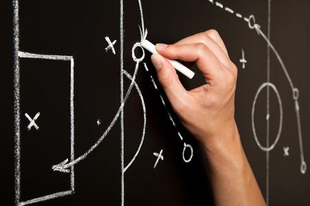 Videoanalyse-Taktik mit Taktiktafel im Fussball arbeiten