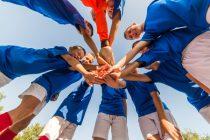 Teamgeist und Motivationssprüche im Fußball