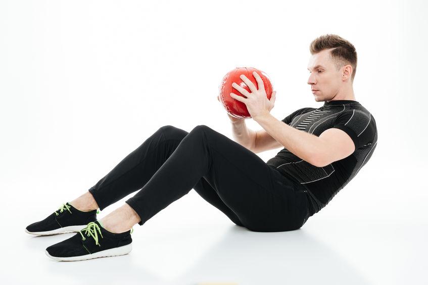Sit up training mit Ball