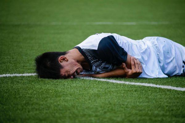 Schmerzen im Fußball, Muskelfaserriss