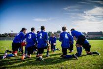Fussballteam - jeder Spieler auf seiner eigenen FUssballposition