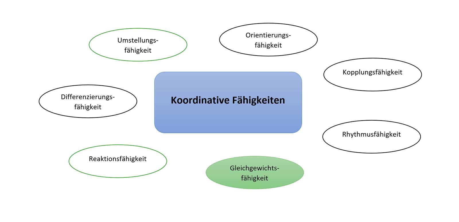 Die Gleichgewichtsfähigkeit - 1 von 7 koordinative Fähigkeiten