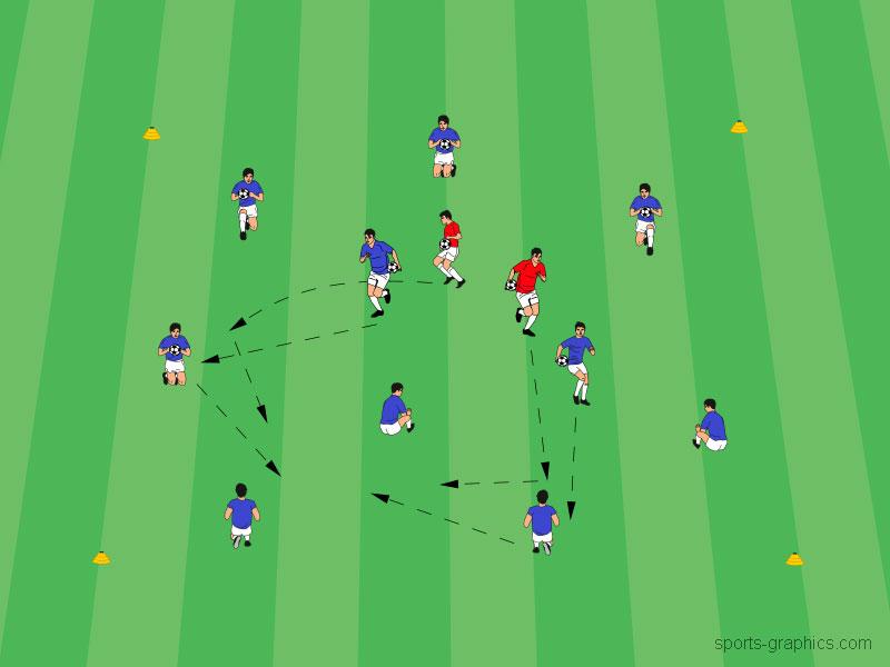 Schnelligkeitstraining in Form von kleinen Spielen